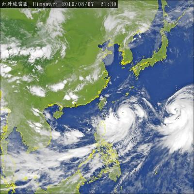 利奇馬恐變強颱 全台今明防豪雨/暴風圈擴大 預估從東北部海面通過