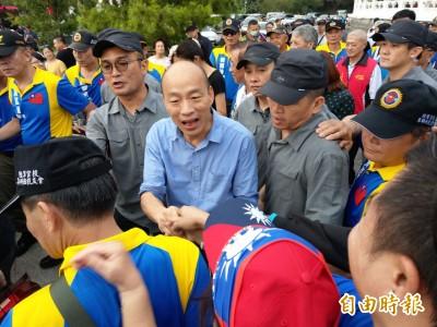 雨災害韓國瑜選舉行程提前收場? 神力女超人這樣說