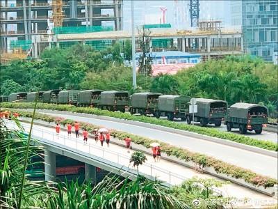 川普:中國部隊正調往香港邊境