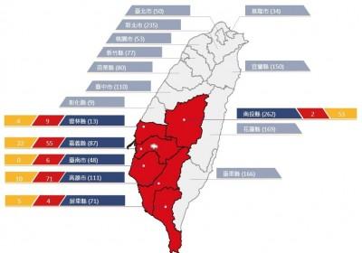 中南部大雨不斷 6縣市土石流紅色警戒共147條