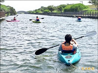 竹市港南運河公園 獨木舟體驗