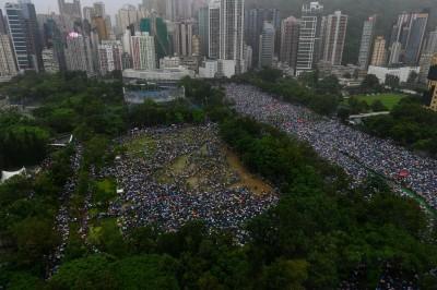 反送中》818維園集會 民陣:170萬人參與
