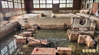 嘉義製材工場地下動力遺構泡水 遊客傻眼