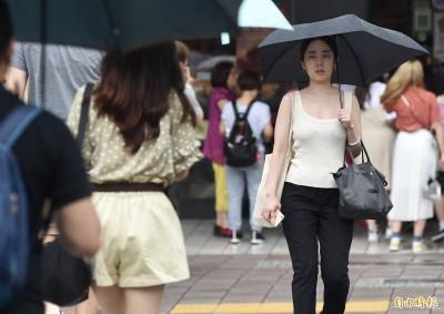 今持續悶熱天氣不穩 12縣市大雨特報