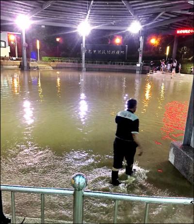 台中》逢雨成池 大里運動公園工程驗收竟過關