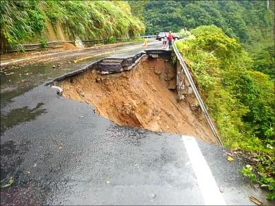 颱風陸警若發 南庄124縣道、苗21線將封閉
