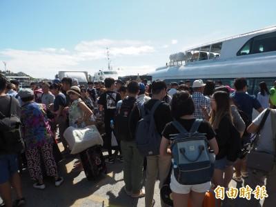 綠島、蘭嶼旅客提前撤離避颱 交通船明全天停航