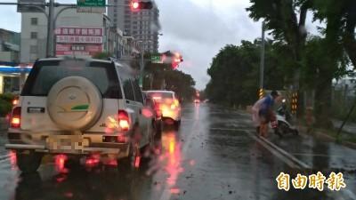 白鹿侵襲台南 1機車騎士遭路樹砸傷、6305戶一度停電