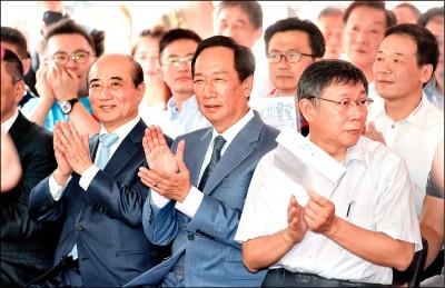 郭、王陣營估算 韓民調再掉 派系自然回歸王