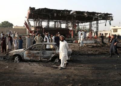 炸彈卡車引爆震撼阿富汗首都 至少16死119傷