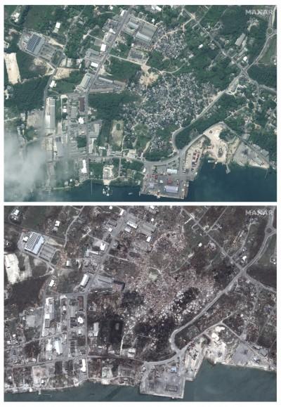 多利安颶風徹底摧毀巴哈馬 震撼衛星對比照曝光...