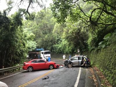 北宜公路驚傳轎車對撞 5人受傷送醫