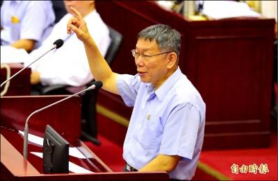 被批施政敬陪末座 拿韓救援 柯:最差的在選總統