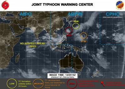 西太平洋3低壓系統並存 最新模擬路徑圖曝光