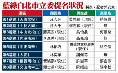 力拚藍綠 民眾黨首推8區域立委