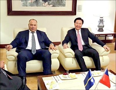 諾魯、帛琉總統 用行動挺台