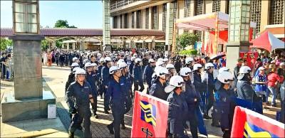 違法集會 統促黨慶中國國慶 警強制驅離