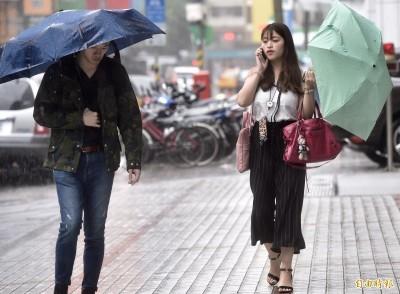 宜蘭清晨大雨特報!北東易下短暫雨