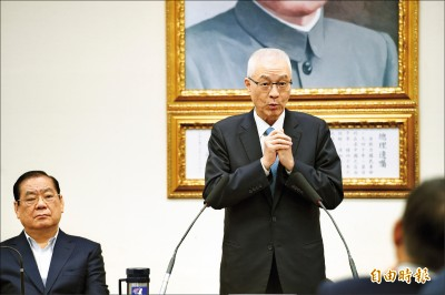 黨內會議被質疑列不分區首位 吳敦義:從未考慮