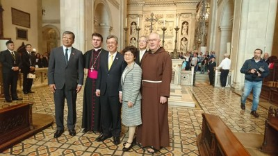 洛雷托聖母之家朝聖 陳建仁祈求聖母及天父降福台灣