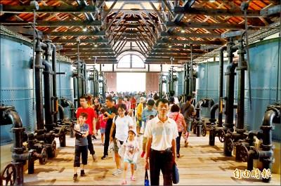 台南水道博物館 4天連假吸客逾12萬