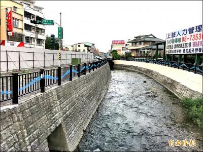 屏市萬年溪整治月底完工 解3萬戶水患