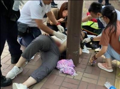 香港19歲青年發傳單遭捅腹腸流 兇嫌被捕疑持中國證件