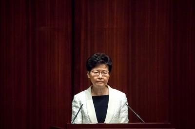 林鄭稱「反送中」有外部勢力介入、非盲挺港警行為