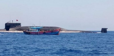 南海撒網 越南漁民「捕獲」中國核潛艇