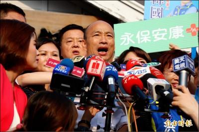 再批一例一休》韓國瑜:卡老闆喉嚨 餓勞工肚子