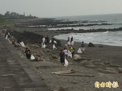 韓國瑜今日原想淨灘 但海灘垃圾被不明人士全清光...