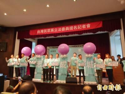 民眾黨公布第二波10位立委參選人