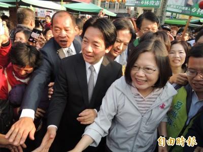 「蔡賴配」呼之欲出 台南綠營認為這天宣布副手