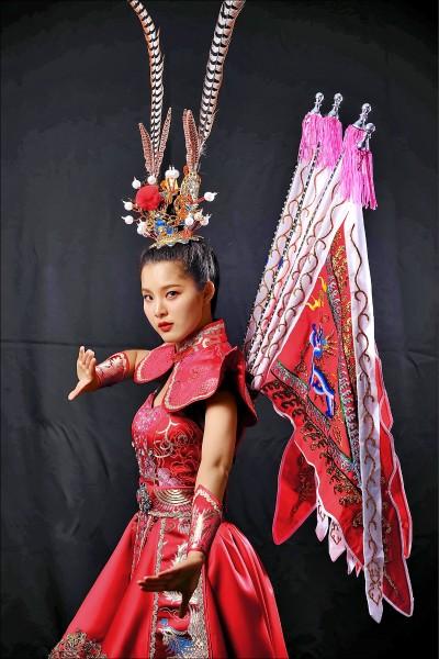 台灣女孩競逐世界小姐 自製「最台」三太子國服