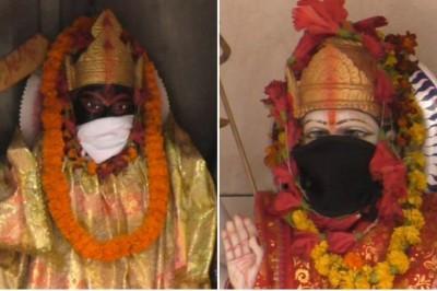 災難級霧霾籠罩無法擋 印度神像也戴上口罩了!