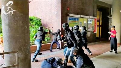 港警射催淚彈抓人 校園宛如戰場
