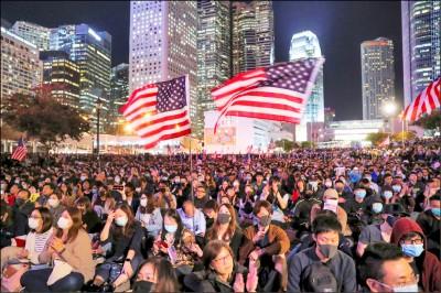 川普不甩中國 簽署支持香港法案