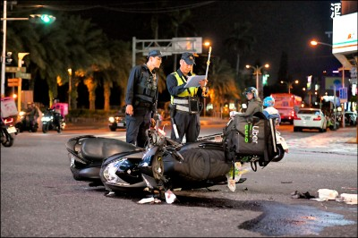 外送員交通事故 北市單月1死百餘傷