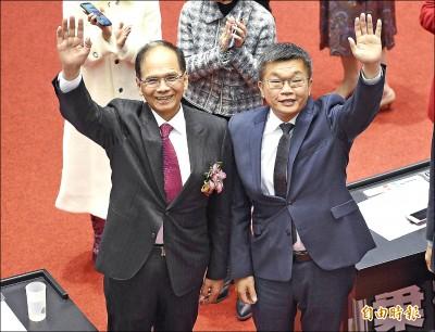 游錫堃73票 蔡其昌65票 當選立院正副院長