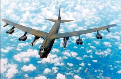 美軍B-52H轟炸機 進入台北飛航情報區