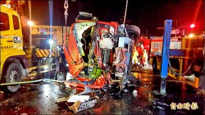 貨櫃車衝撞 高市消防員4傷1命危
