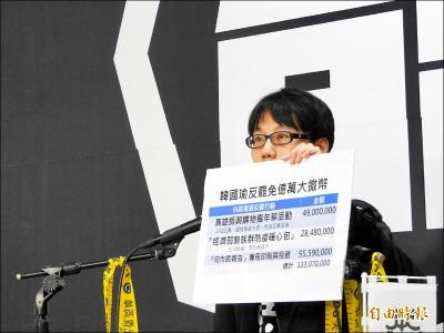 罷韓團體:韓救罷免 大撒幣1.3億