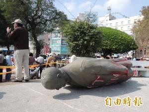 拉倒孫中山銅像 蔡丁貴等8人被起訴