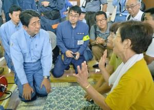 日首相安倍晉三 發出改組內閣聲明