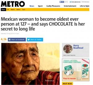 127歲人瑞長壽秘訣 竟是吃巧克力?
