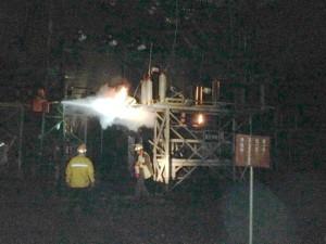 遭雷擊 台電銅門電廠設施起火