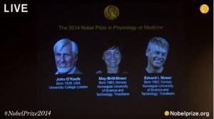 諾貝爾醫學獎 由英國及挪威3腦神經學家共享