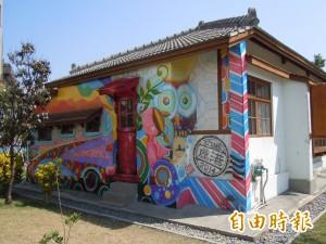 拍照新亮點!鹿港桂花巷幸福巴士牆
