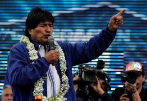 玻國總統大選 莫拉萊斯宣布勝選