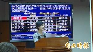蔣偉寧涉論文假審案 綠委要求科技部秉公處理